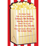 Fresh Popcorn Custom Hollywood Invitation