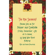 Holiday Botanical Custom Invitation
