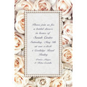 Lovely in White Custom Invitation