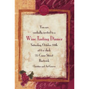 Vineyard Grapes Custom Invitation