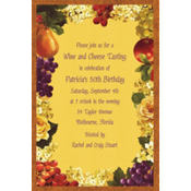 Golden Orchard Custom Invitation