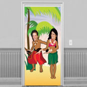 Luau Dancers Photo Door Banner 72in