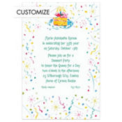Cake and Confetti Custom Invitation