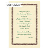 Black Basketweave/Ecru Custom Invitation