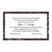 Black Marble Border/White Custom Invitation