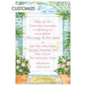 Palm Tree Front Door Custom Invitation