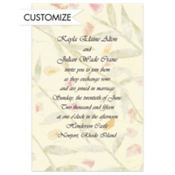 Diagonal Stripe Petal Paper Custom Invitation
