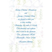 Wedding Procession Toile Custom Invitation