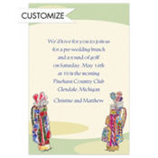 His and Hers Golf Clubs Custom Invitation