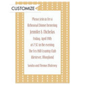 Cream Soda Polkadot Stripe Custom Invitation