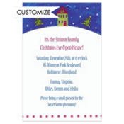 Little Christmas House Custom Invitation
