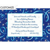 Spirals & Stars Custom Invitation