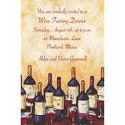 Painterly Wine Tasting Custom Invitation