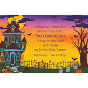 Haunted House Custom Invitation