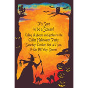 Witchy Halloween Motif Custom Invitation