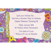 Girls Slumber Party Custom Invitation
