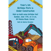 Construction Site Custom Invitation