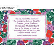 Multicolor Floral Custom Invitation