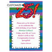 Big 25 Border Custom Invitation
