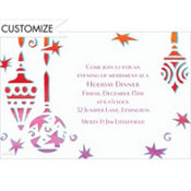 Cool Mod Ornaments Custom Invitation