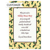 Holly & Polkadots Custom Invitation