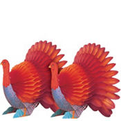 Honeycomb Turkey Centerpieces 6in 2ct