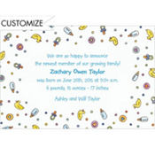 Baby Boy Things Custom Birth Announcements