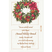Front Door with Wreath Custom Invitation