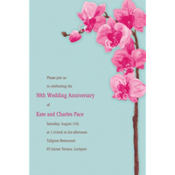 Elegant Orchids Custom Invitation