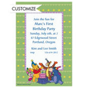 Pooh with Friends 1st Birthday Custom Invitation