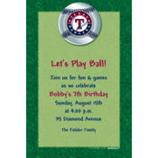 Texas Rangers Custom Invitation