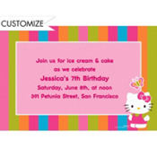 Hello Kitty Custom Invitation