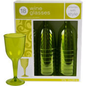 Avocado Wine Glasses 8oz 20ct