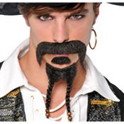 Pirate Moustache & Goatee Set