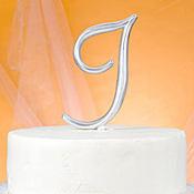 Monogram I Cake Topper