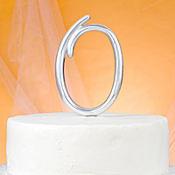 Monogram O Cake Topper