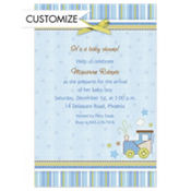 Carter Boy Custom Baby Shower Invitation