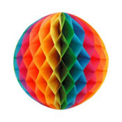 Multi Color Honeycomb Ball 11in