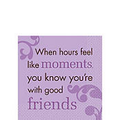 Purple Sweet Sentiment Beverage Napkins 16ct