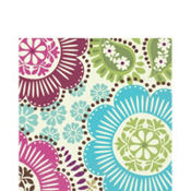 Fashion Floral Lunch Napkins 16ct