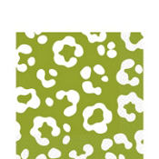 Avocado Cheetah Print Lunch Napkins 36ct
