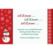 Very Merry Snowman Custom Invitation