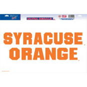Syracuse Orange Decal Cling 11in x 17in
