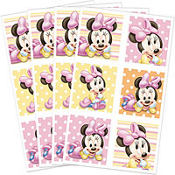 Minnie Mouse 1st Birthday Stickers 4 Sheets