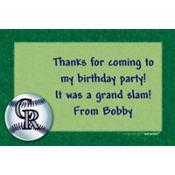 Colorado Rockies Custom Thank You Note