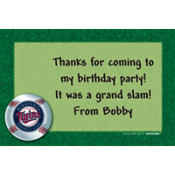 Minnesota Twins Custom Thank You Note