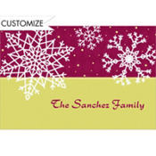 Simple Snowflake Red Custom Thank You Note