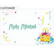 Cake and Confetti Custom Thank You Note