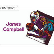 Football Card Custom Thank You Note