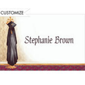 Black Graduate's Gown on Hook Custom Thank You Notes